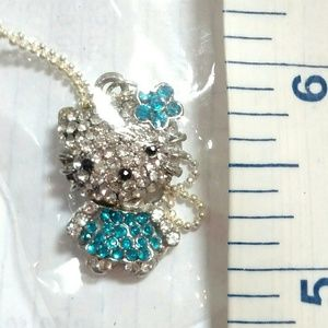 Hello Kitty Crystal Necklace NWT